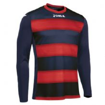 JOMA Europa III Jersey - Dark Navy / Red (Long Sleeve)